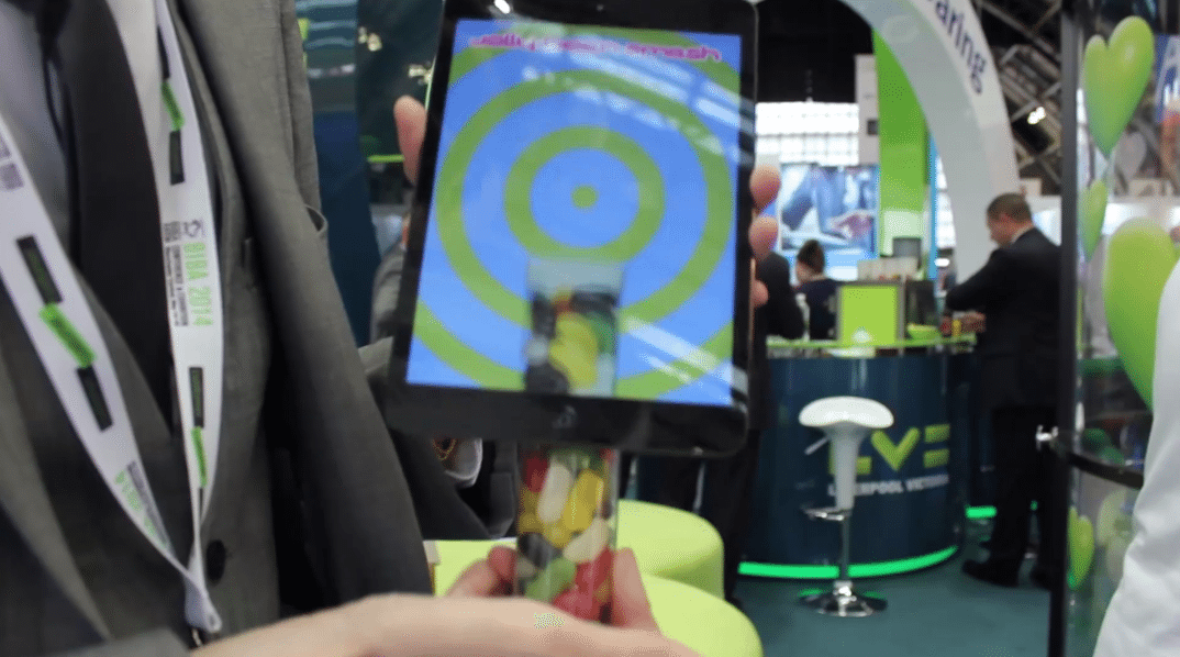 ipad magician at an exhibition